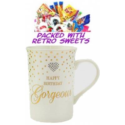 Happy Birthday Gorgeous Cuppa Sweets - Sweets Gifts