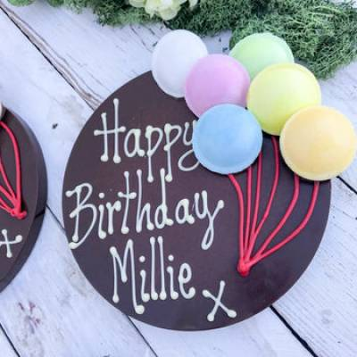 Giant Personalised Chocolate Happy Birthday Disk