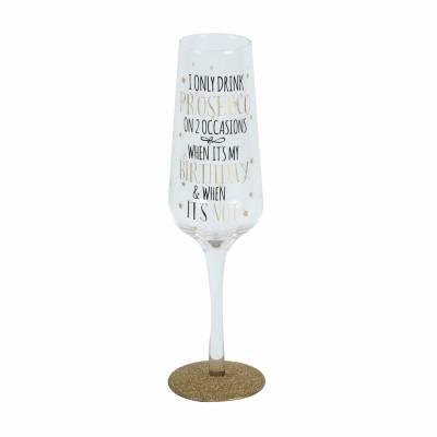 FunkyHampers Birthday Prosecco Glass