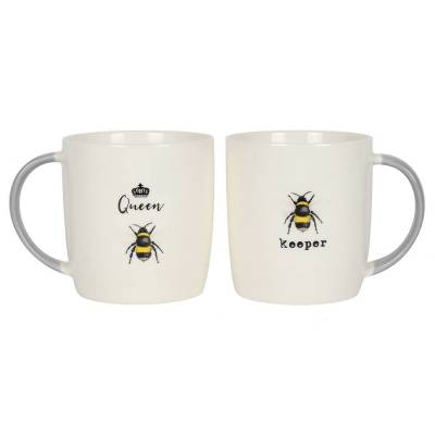 Queen Bee and Keeper Mug Set