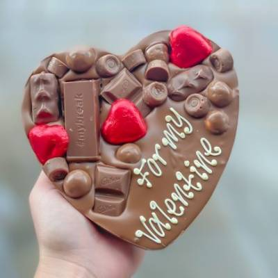 Be My Valentines Personalised Chocolate Heart