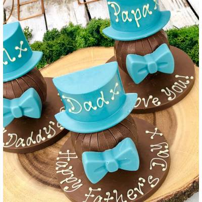 Personalised Blue Hat Chocolate Orange