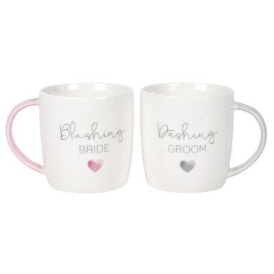 Blushing Bride Dashing Groom Mug Set