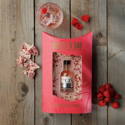 Bottle N Bar Pink Gin and Chocolate Gift