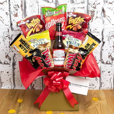 The Beer and Bar Snacks Bouquet