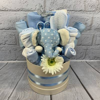 New Baby Boy Luxury Large Hat Box
