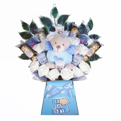 New Baby Boy Yankee Candle Bouquet