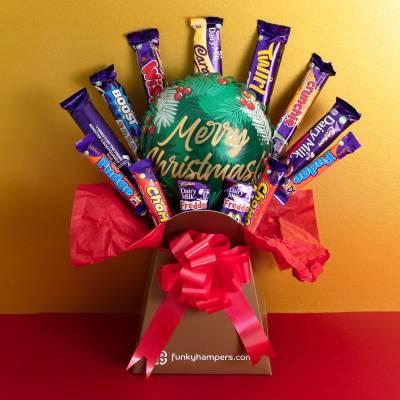 Merry Christmas Cadburys Classics Chocolate Bouquet