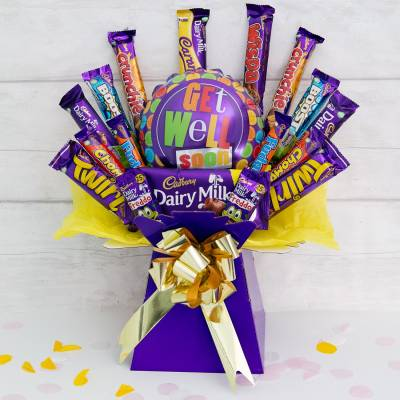 Get Well Soon Deluxe Cadburys Chocolate Bouquet
