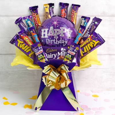 The Happy Birthday Deluxe Cadburys Chocolate Bouquet