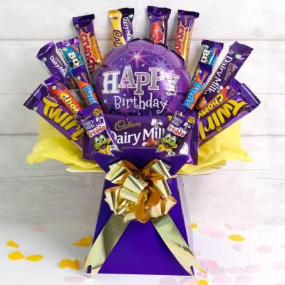 The Happy Birthday Deluxe Cadburys Chocolate Bouquet