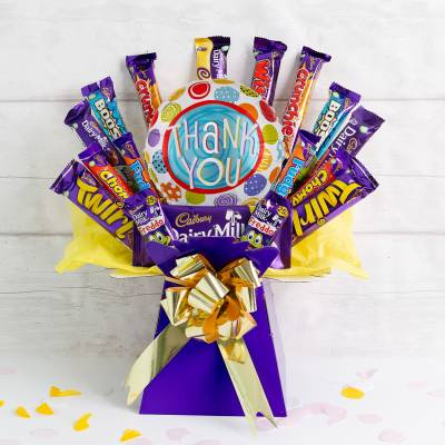The Thank You Deluxe Cadburys Chocolate Bouquet