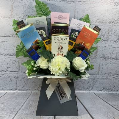 Luxury Chocolate Bars Bouquet - Luxury Chocolate Gifts