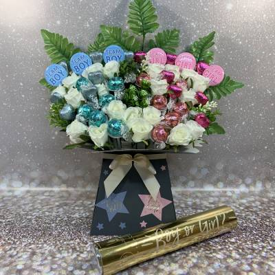 Baby Boy Gender Reveal Party Bouquet
