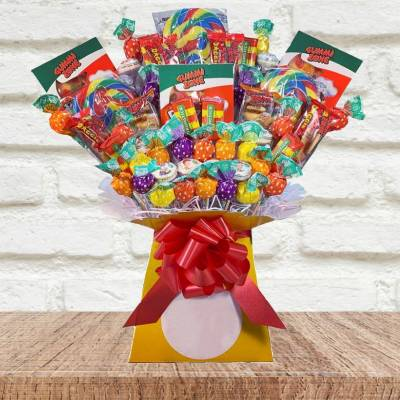 The Lolly and Gummy Sweets Bouquet - Sweets Gifts