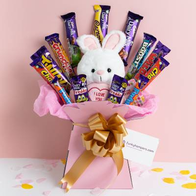 The I Love You Teddy and Chocolate Bouquet