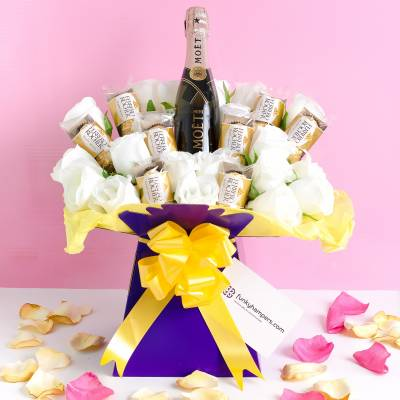 The Pink Champagne and Ferrero Rocher Bouquet