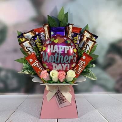 Mothers Day Chocolate and Balloon Bouquet