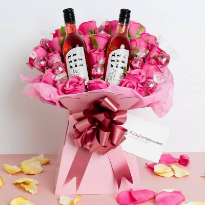 The Rose Wine Lovers Bouquet