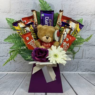 Thank You Bear Chocolate Bouquet