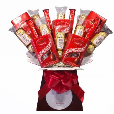 Valentines Day Giant Lindor and Ferrero Rocher Bouquet