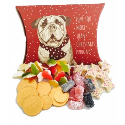 Love You More Than Xmas Pudding Bulldog Box