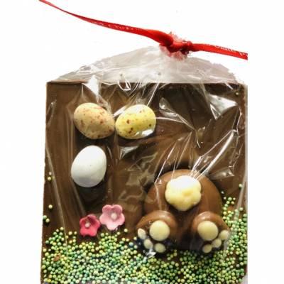 Digging Bunny Gourmet Chocolate Slab