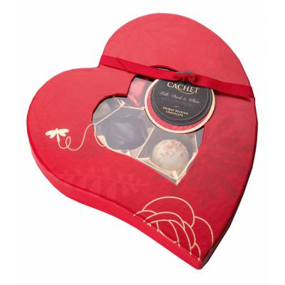 Love Heart Box of Unique Belgian Chocolates - Unique Gifts