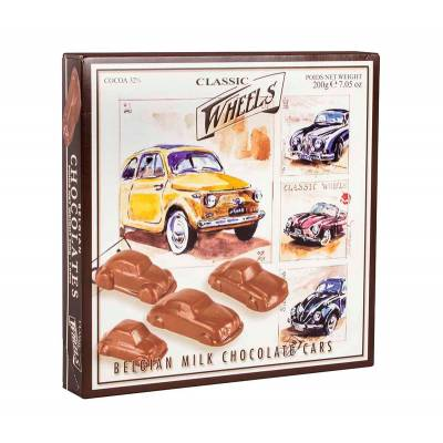 Belgian Milk Chocolate Cars