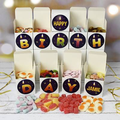 Personalised Happy Birthday Sweet Boxes