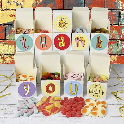 Personalised Thank You Sweet Boxes