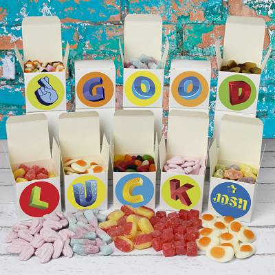 Personalised Good Luck Sweet Boxes