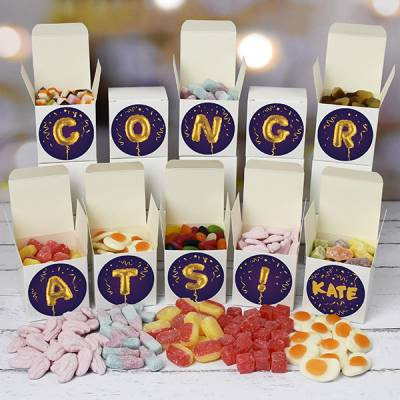 Personalised Congratulations Sweet Boxes