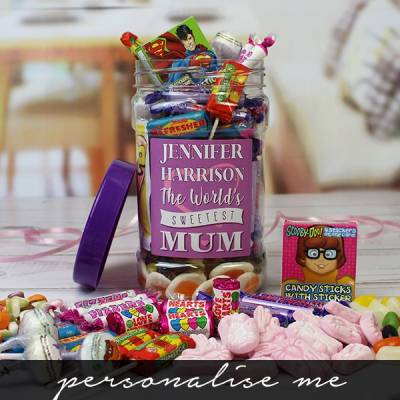 Personalised Sweetest Mum Sweet Jar
