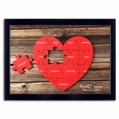 Personalised You Complete My Heart Picture - Funkyhampers Gifts