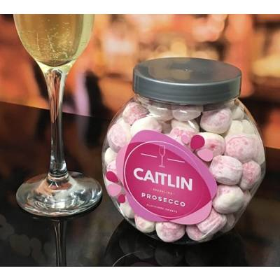 FunkyHampers Personalised Prosecco Sweets Jar