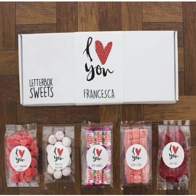 Personalised I Love You Letterbox Sweets