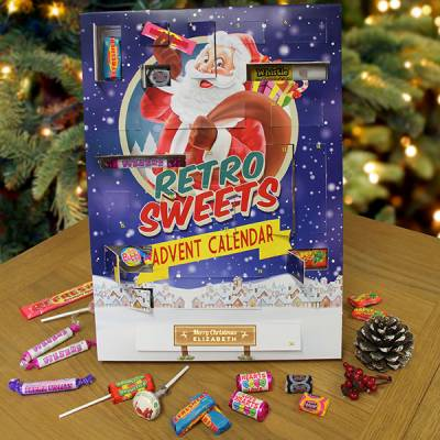 Personalised Retro Sweets Advent Calendar