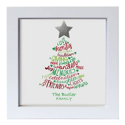 Personalised Family Christmas Print