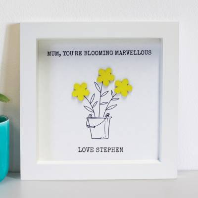 Personalised Mum Blooming Marvellous Print