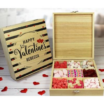 Personalised Valentines Day Sweet Box
