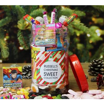 Personalised Christmas Sweet Jar