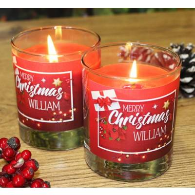 Personalised Christmas Candles