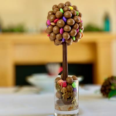 Personalised Chocolate and Smarties Funky Sweet Tree 25cm