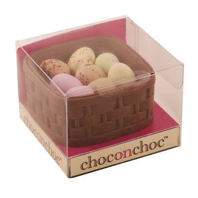 Chocolate Easter Basket and Eggs - Easter Gifts