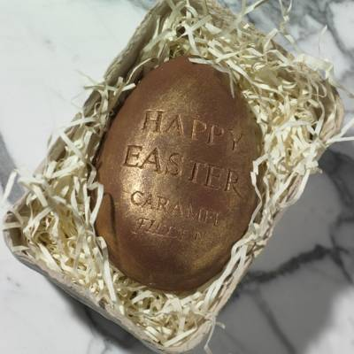 FunkyHampers Happy Easter Caramel Filled Egg