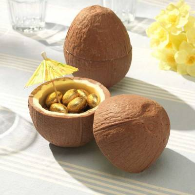 Chocolate Coconut With Golden Eggs