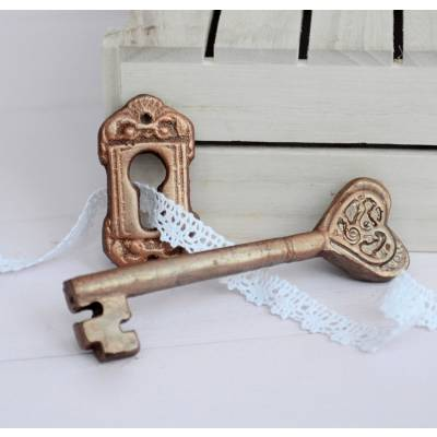 Chocolate Heart Key and Escutcheon