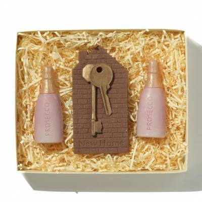 New Home Chocolate Keys and Prosecco