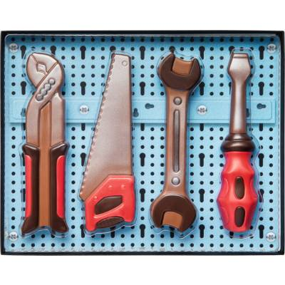 Chocolate Coloured Tools Set